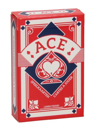 Kaartspel ACE Linnen Rood Frans