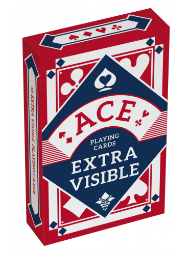 Kaartspel ACE Extra Visible rood