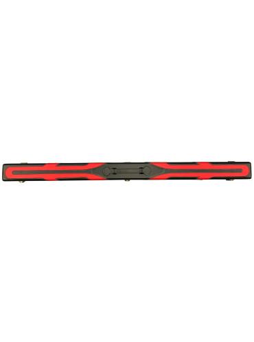 Koffer 3-delige Snooker Keu Kunstleder zwart-rood