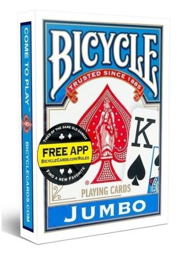 Pokerkaarten Bicycle Jumbo Index - blauw