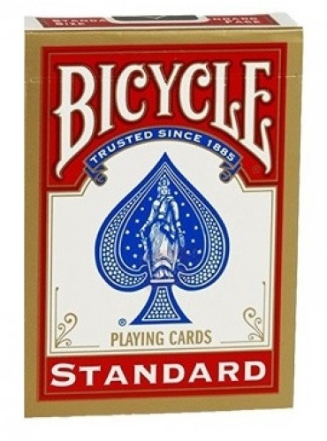 Pokerkaarten Bicycle Standard Index - rood