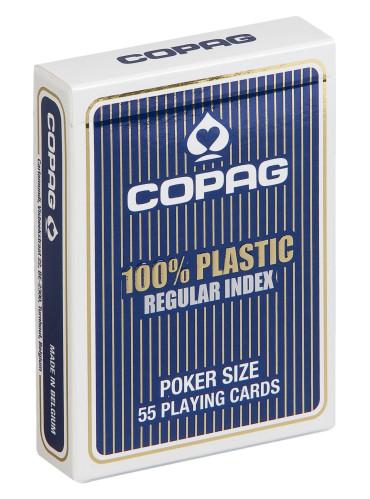 Pokerkaarten Copag 100% plastic Regular Blauw
