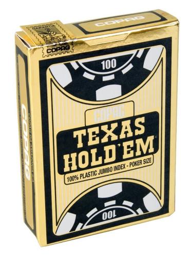 Pokerkaarten Copag Texas Jumbo Zwart