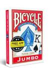 Pokerkaarten Bicycle Jumbo Index - rood