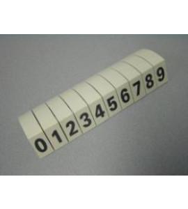 Set cijfers grijs (10 stuks)