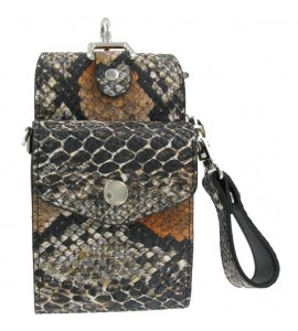 Bull's Hatch Snakeskin Pak Black Brownc