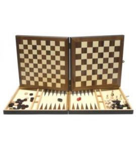 Schaak-dam-backgammon-cassette