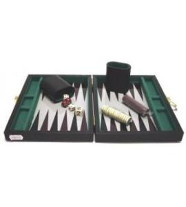 Backgammonkoffer magnetisch zwart