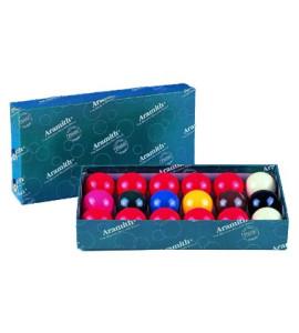 Snookerballen 17st. - 48mm Aramith