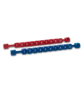 Telraam Tafelvoetbal Rood/Blauw