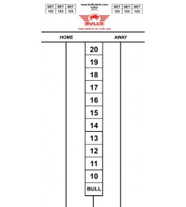 Dart Scorebord World Master 60x30cm