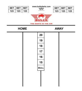 Dart Scorebord Bull's  35x25cm
