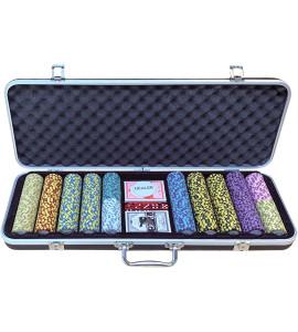 Jetons - Clay Crown Aluminium Koffer 500