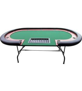 Zwarte Pokertafel met poten voor 10 spelers