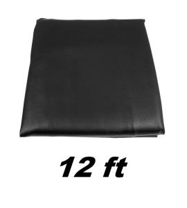 Afdekzeil Zwart dik/ruglaag 12ft