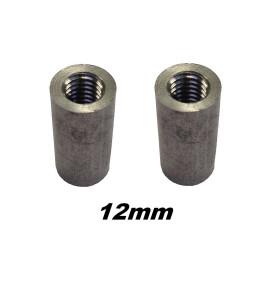 Beentje aluminium voor schroefpomerans 12mm