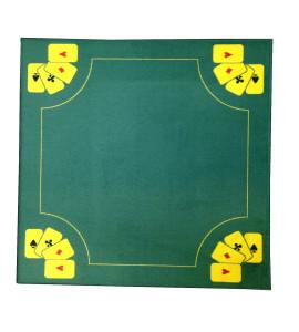 Kaartmat 70x70cm 4 aasjes - Geel