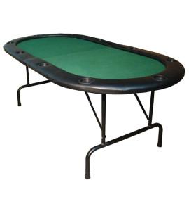 Pokertafel plooibaar voor 10 spelers