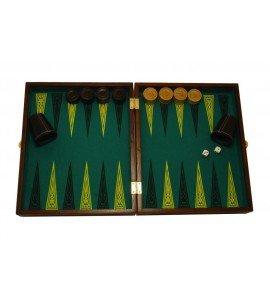 Jacquetbak / Backgammon massieve eik