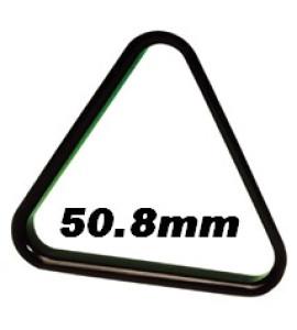 Driehoek Poolballen zwart 50,8