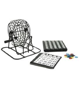 Bingo Trommel Metaal Zwart