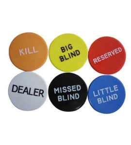 Poker - Button Set Dealer/Blind