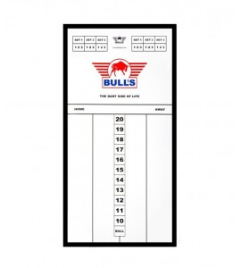 Dart Scorebord Bull's Plexi 45x30cm
