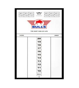 Dart Scorebord Bull's Plexi 60x30cm