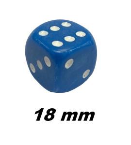 Dobbelsteen 18mm blauw