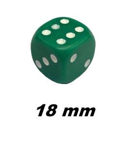 Dobbelsteen 18mm groen