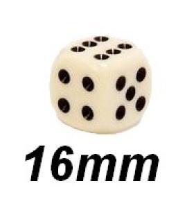 Dobbelsteen 16mm ivoorkleur