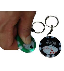 Sleutelhanger Pokerjeton LED licht