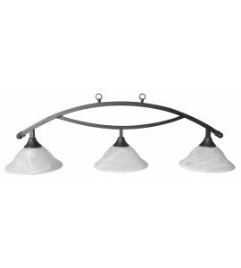 Lichtscherm 3-Kap Metaal Zwart/Glas