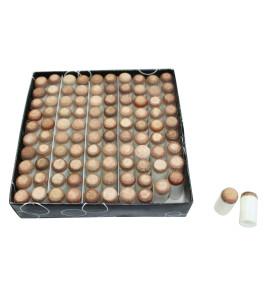 Overschuif Pomerans Wit 13mm - doos 100 stuks