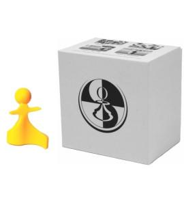 Paco Ŝako Vredes schaakstukken geel