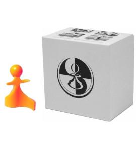 Paco Ŝako Vredes schaakstukken oranje