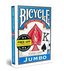 Pokerkaarten Bicycle Jumbo Index - blauw