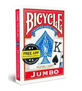Pokerkaarten Bicycle Jumbo Index - rood