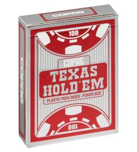 Pokerkaarten Copag Texas Silver Peek Rood