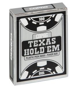 Pokerkaarten Copag Texas Silver Peek Zwart