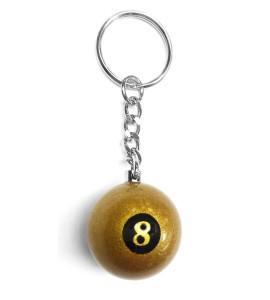 Sleutelhanger Poolbal Aramith Gouden 8-ball